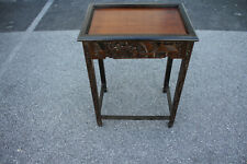 Charming Chinese Heavily Carved Lamp Side End Table