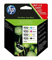 HP 920XL 4-pack High Yield Black Cyan Magenta Yellow Original Ink Cartridges  C2