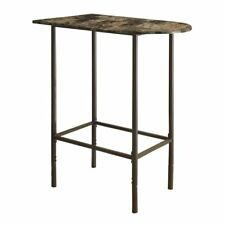 Monarch Dining Table - 24X 36 / Cappuccino Marble / Metal