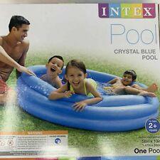 Intex Crystal Blue Pool 58in x 13in Inflatable kiddie Swimming Pool New