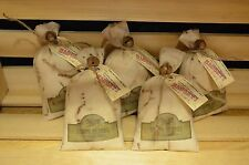 5 Grungy Stuffed Muslin SANTA COAL SACKS Old Primitive Ornie Cupboard Christmas
