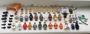 LEGO STAR WARS mini figures, job lot bundle, 39 plus weapons etc. SOME NEW !