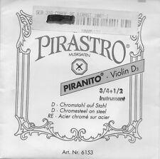 Corde à l'unité Violon Pirastro 3/4 1/2 Violin D3 Ré Acier chromé sur acier