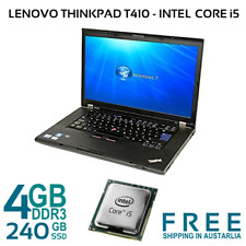 Lenovo Thinkpad T410 Laptop i5-560M 2.66GHz 4GB 120/240GB SSD  DVDRW WIN-7 PRO