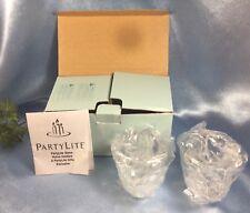 New Set of 2 PartyLite P7658 Glacier Lights Votive Candle Holders + Box: #9335