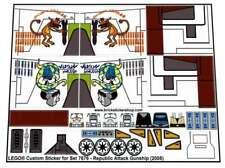 Precut Custom Replacement Stickers voor Lego Set 7676 - Republic Attack Gunship