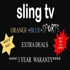 SlingTV BLUE +ORAGE +SPORTS+EXTRA ( lifetime)