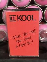 Vintage 90s Dj Kool What The Hell You Come In Here For Maxi Single Cassette Tape