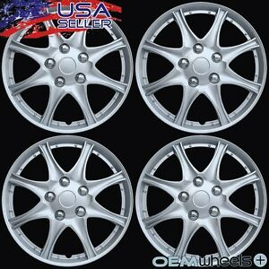 """4 New OEM Silver 16"""" Hubcaps Fits Lexus SUV ABS IS LS GS Center Wheel Cover Set"""