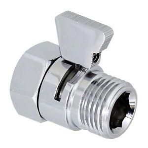 Shower Water Flow Control Valve Hand Held Sprayer Head Supply Shut Off Switch