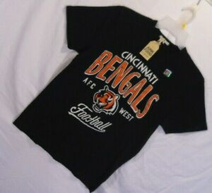 Mens CINCINNATI BENGALS t shirt tee size Medium black 100% cotton