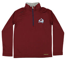 Reebok NHL Youth Colorado Avalanche Grinder Quarter Zip Coach Pullover, Maroon