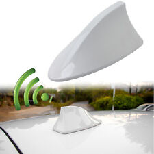 White Car Auto SUV Roof Special With Radio AM/FM Shark Fin Antenna Aerial Signal