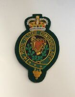 Royal Ulster Constabulary Blazer Badge, Embroidered, Jacket, Army, Military RUC