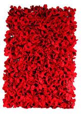 Red Hydrangea Artificial Flower Wall Backdrop Tile