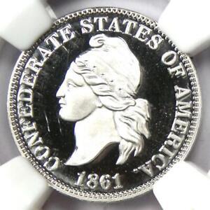 2011 Smithsonian Platinum Restrike of 1861 CSA Confederate Cent 1C - NGC Proof