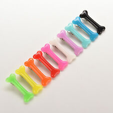 New  Sell Lovely Womens Grils Vivid Dog Bone Hair Clips Side Hairpin Beauty