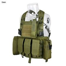 DLP Tactical RRV Chest Rig MOLLE Vest in Green with four pouches