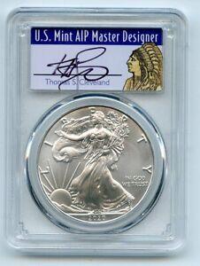 2020 $1 American Silver Eagle 1oz PCGS MS70 FS 1 of 1000 Thomas Cleveland Native