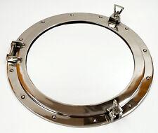 """XL Ships Porthole Mirror Aluminum Chrome Finish 24"""" Round Nautical Wall Decor"""