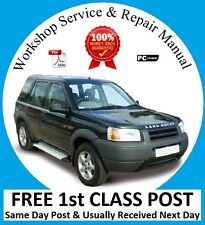 LAND ROVER FREELANDER 1 WORKSHOP REPAIR MANUAL 2001 - 2006 ON CD