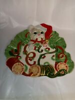 Fitz and Floyd Essentials Hand Crafted Christmas Kitty Kringle Plate Cookies