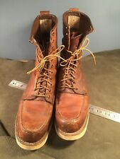 Vintage Red Wing Irish Setter 877 Crepe Sole Moc Toe 11A Lace Up Work Boots