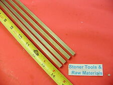 """4 Pieces 1/4"""" x 1/4"""" C360 BRASS SQUARE BAR 14"""" long Solid .250"""" Mill Stock H02"""