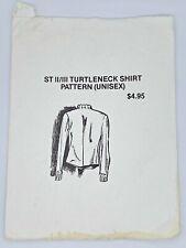 Star Trek ST II/III Turtleneck Shirt Pattern Unisex  XS-XL Uncut Men Women Sew