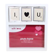 I Love You Luxury Spinner Tile 4' x 6'  Box Photo Frame - Valentine's Day Gift