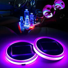 2x 72mm Purple LED Light With Solar ChargerAccent Forte Water Coast Mat Euro BM