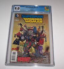 Superman Wonder Woman (New 52) #7 - CGC VF/NM 9.0 - DC Modern Age MAD variant