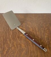 Mid Century Vtg Kitchen Utensil Spatula Flipper ANDROCK Stainless Wood 11 1/4""