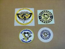 Pgh Penguins, Patch and Sticker Lot of Four (4), Older and Clean