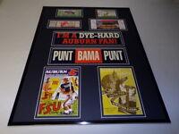 Auburn Tigers Football 16x20 Framed Memorabilia Display Tickets Programs