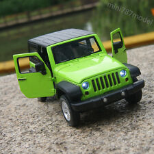 Jeep Wrangler 2014 1:32 Car Model Alloy Diecast Sound&Light Collection Toy Green