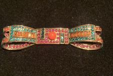 Bow Brooch Pin Multi-color Heidi Daus Signed Ribbon