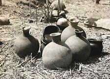 Cameroun  Rhumsiki Afrique Potterie Kapsiki CIRCA 1950 argentique CAMEROON
