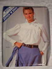 McCall's Women's Blouse Pattern# 8413 Size A (6-8-10) STITCH'N SAVE 1983