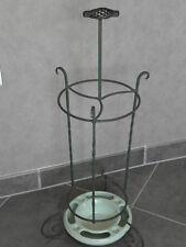 retro Ornate Umbrella Stand Art Deco Wrought iron Keramik Ges Gesch mid centur