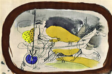 GEORGES BRAQUE STUNNING  LITHOGRAPH HORSE & CHARIOT 1 VERVE CARNETS INTIMES 1955