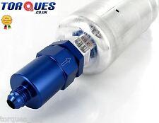 AN -6 (-6 JIC AN06) Bosch Inlet 044 M18x1.5 Direct Fuel Filter 30 Micron - Blue