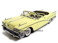 1958 BUICK LIMITED CONVERTIBLE YELLOW/CASINO CREAM 1:18 PLATINUM SUNSTAR 4811