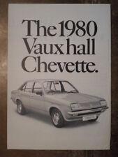 VAUXHALL CHEVETTE orig 1980 UK Mkt Sales Brochure