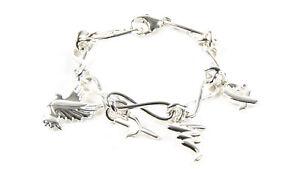 TIFFANY & CO. Women's Paloma Picasso Sterling SIlver Charm Bracelet NEW