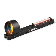 Red Fiber Red Dot Sight Holographic Scope Sight Fit Shotgun Rib Rail Hunting