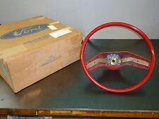 New NOS OEM Ford Red Steering Wheel D6AZ-3600-B 1976 Galaxie LTD Torino