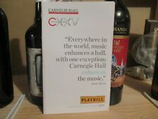 Art Garfunkel-Carnegie Hall Playbill-Oct. 3, 2015-Nice Condition!-52 pages.
