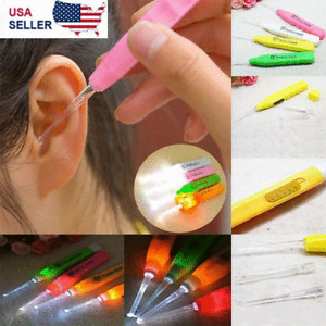 3pcs Cleaning Set Care Tool led Ear Pick Ear Wax Remover Cleaner earpick Kit