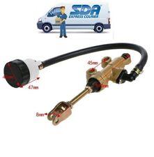 Argento pompa freno idraulica pompa freno anteriore idraulica per moto da cross ATV Pompa freno a pedale posteriore